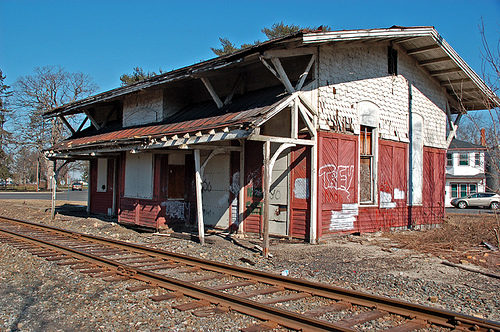 Photo of pre-renovation Glassboro Train Station by Flickr user Owl's Flight
