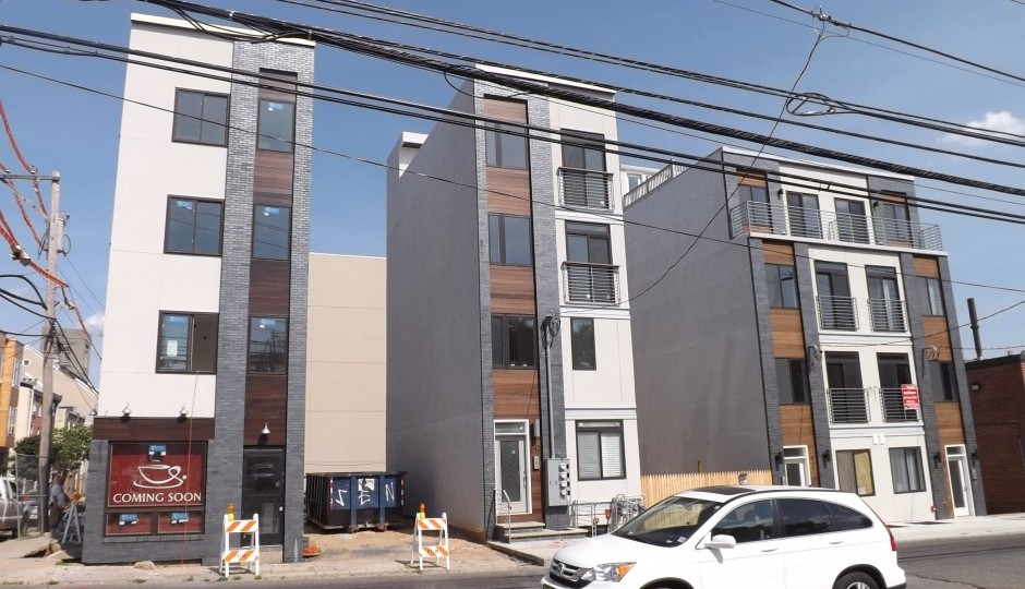 Gap-toothed townhomes on North 16th Street in Francisville