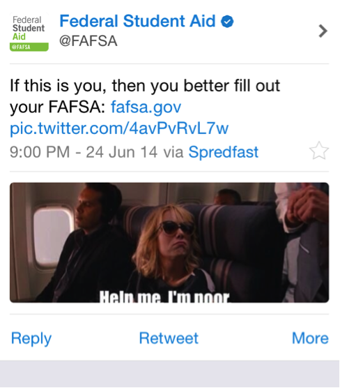FAFSA tweet kristen wiig