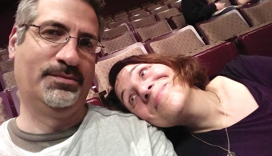 Jennifer Weiner with boyfriend Bill Syken at the Wilma Theater, April 22, 2015.