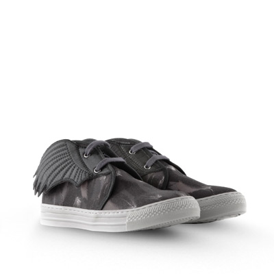 The gunmetal leather makes the wings on these sneakers a little less in-your-face.