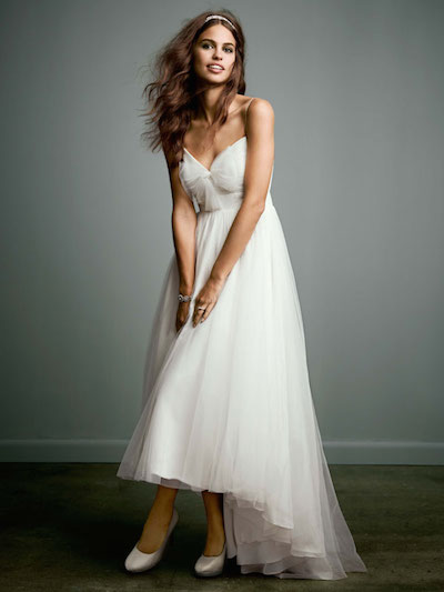 This pretty chiffon Galina gown that was originally $499 is now $99 at David's Bridal.
