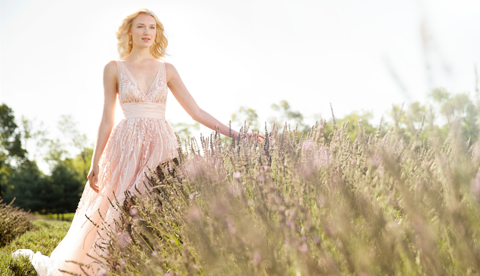 Would you wear a blush wedding gown? Photo by Trevor Dixon.