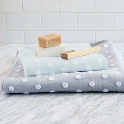 West Elm's polka dot towels, westelm.com.