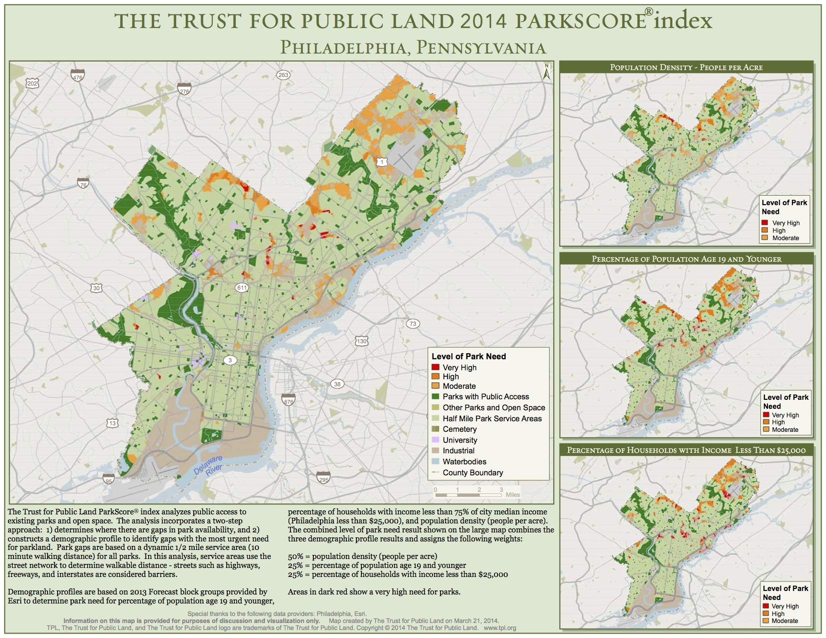 From The Trust for Public Land, parkscore.tpl.org.
