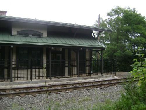 Photo of renovated train station via Glassboroonline.com
