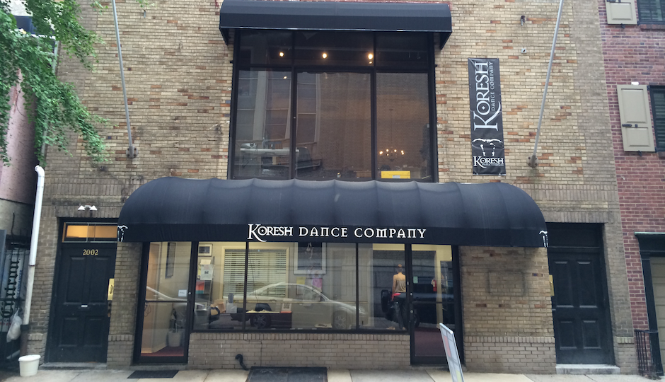 Koresh Dance Company's new permanent home at 2002 Rittenhouse.