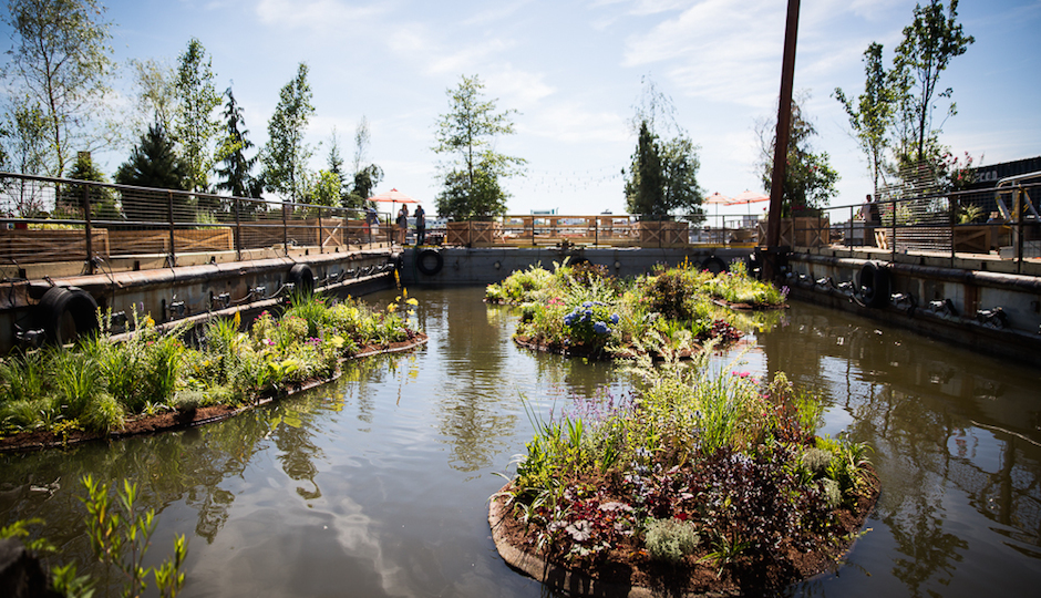 The water garden at Spruce Street Harbor Park, via the DRWC