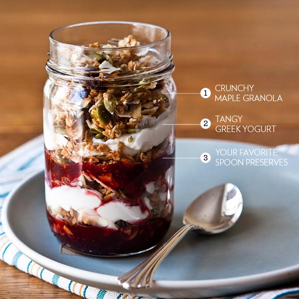 ... Breakfast Parfait With Blueberries & Granola Recipes — Dishmaps