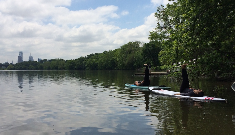 SUP Yoga on the Schuylkill