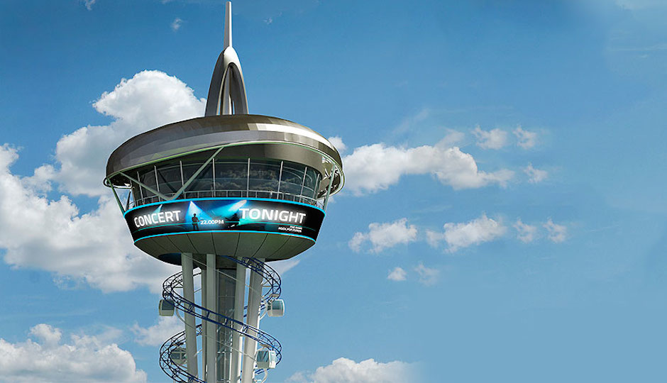 The general product design of the Skyspire via U.S. Thrill Rides' website.