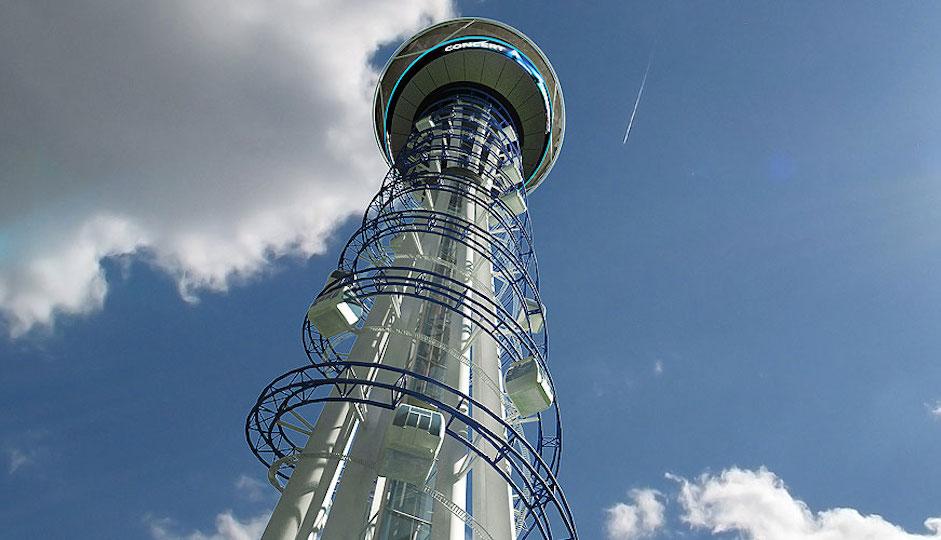 General product design of Skyspire via U.S. Thrills' website.