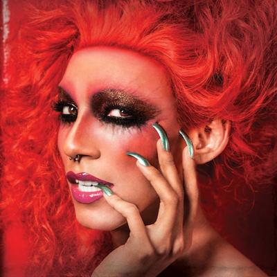 Misty Maven in an ad for Obsessive Compulsive Cosmetics. Photo by David Phelps.