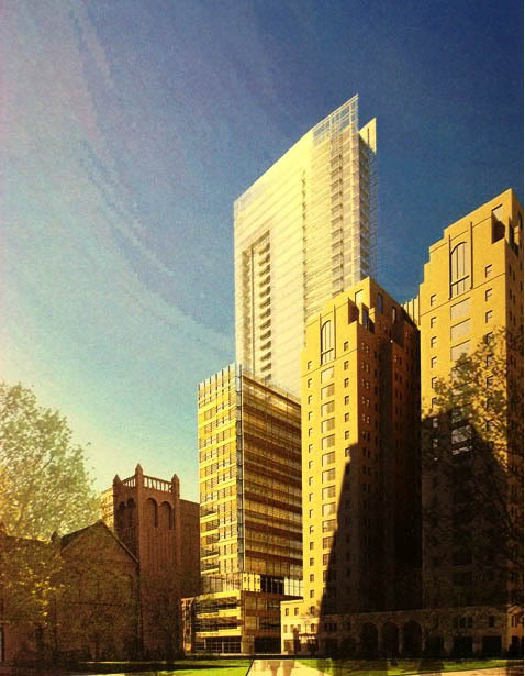 A rendering of Castleway's pre-recession proposal, courtesy of Skyscraper Page