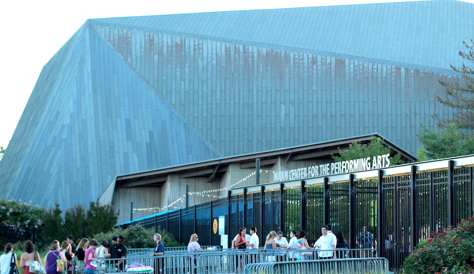 Entrance to the Mann before the concert.