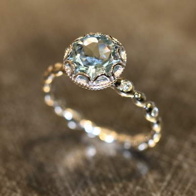 non diamond engagement rings - Non Diamond Wedding Rings