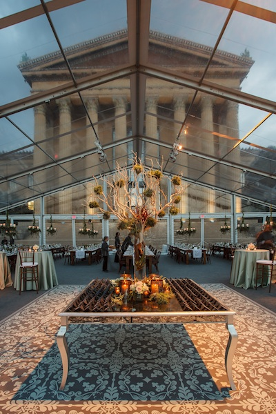 KPW designed this tented affair outside the Philadelphia Museum of Art.