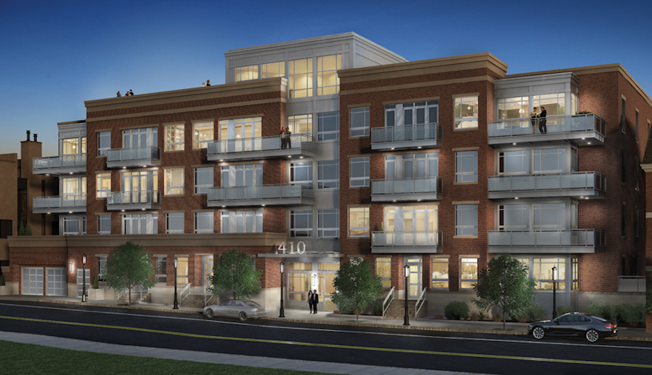 A rendering of 410 at Society Hill, courtesy of Toll Brothers