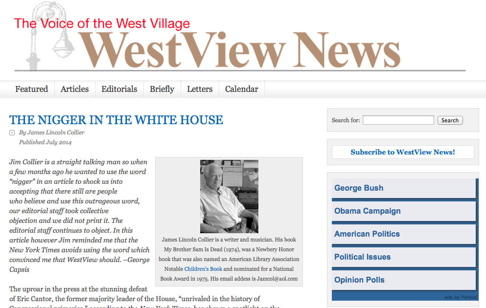 The headline, as it appeared on the newspaper's website.
