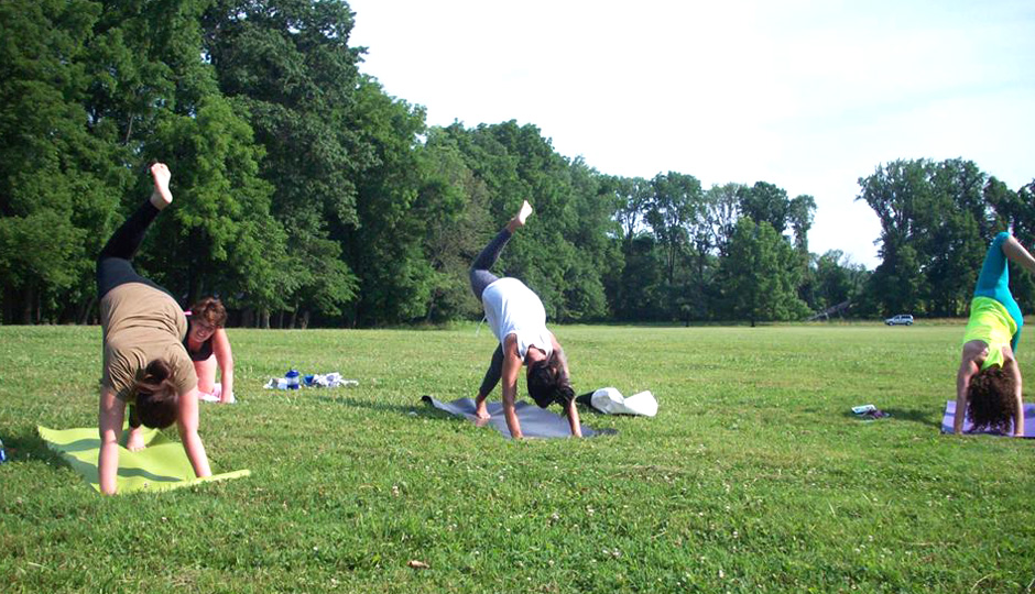 Yoga in Tyler State Park // Photo via Facebook