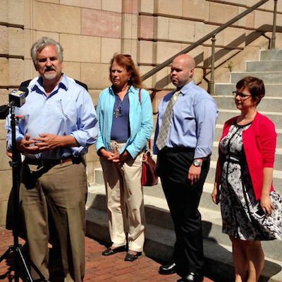 State Representative Mike Sturla at Equality PA's stop in Lancaster. Photo by Alexander Gell