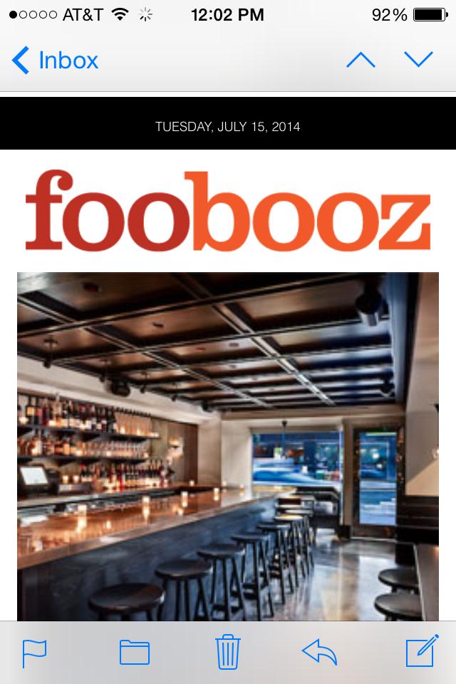 foobooz newsletter