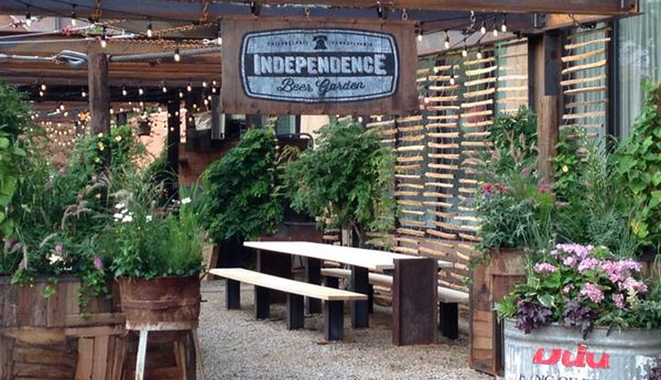 Tonight independence beer garden launches at center city