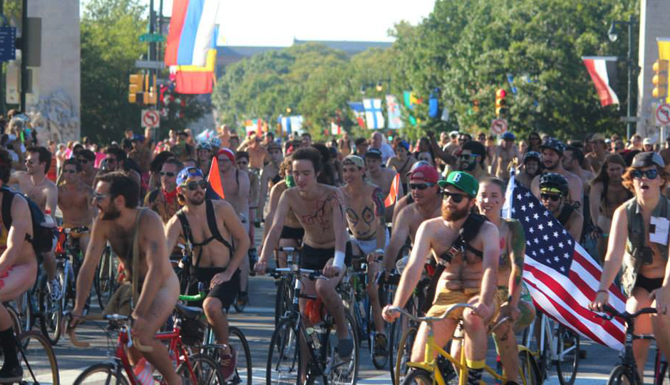 Photo via Philly Naked Bike Ride/Facebook