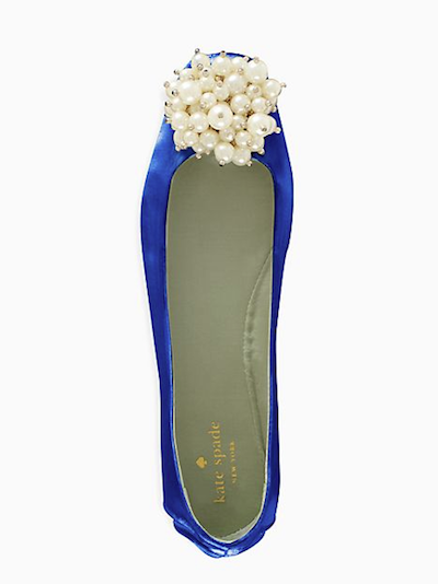 These look just about perfect for dancing during your reception, don't they? Well luckily, Kate Spade's Flambe flats are now $69 instead of $125.