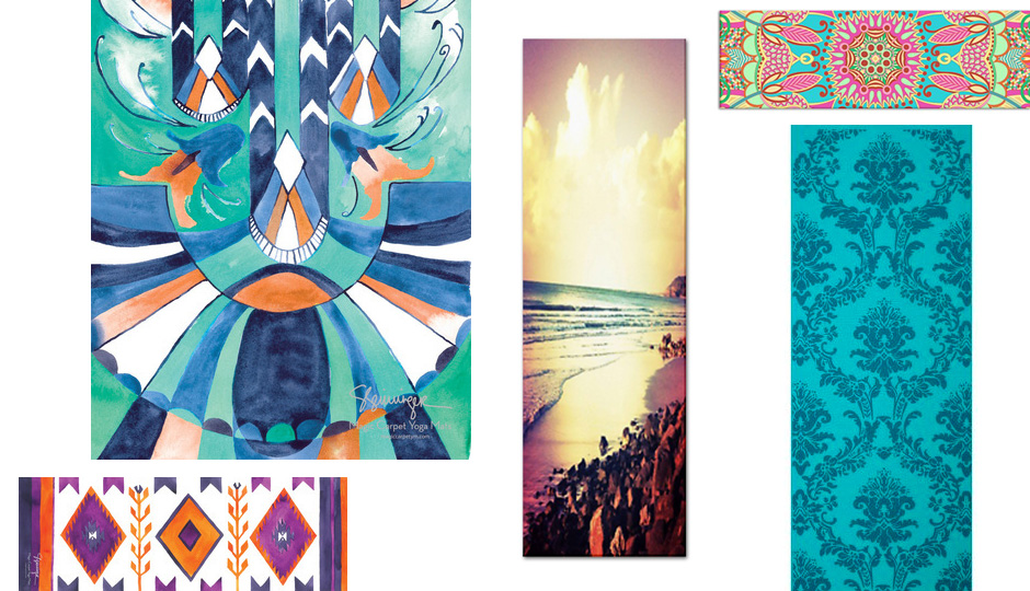 hamsa goods mats products yoga mat vagabond printed