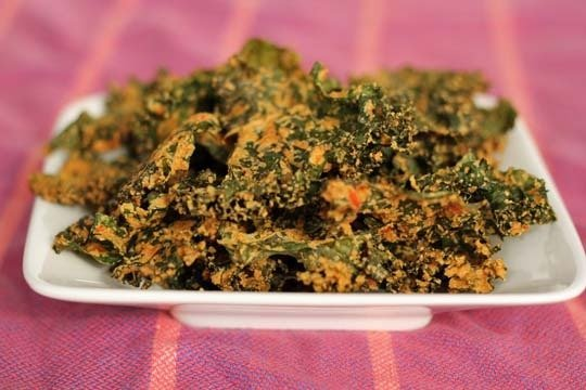 cheesy vegan kale chips the blend of spices on these crunchy kale ...