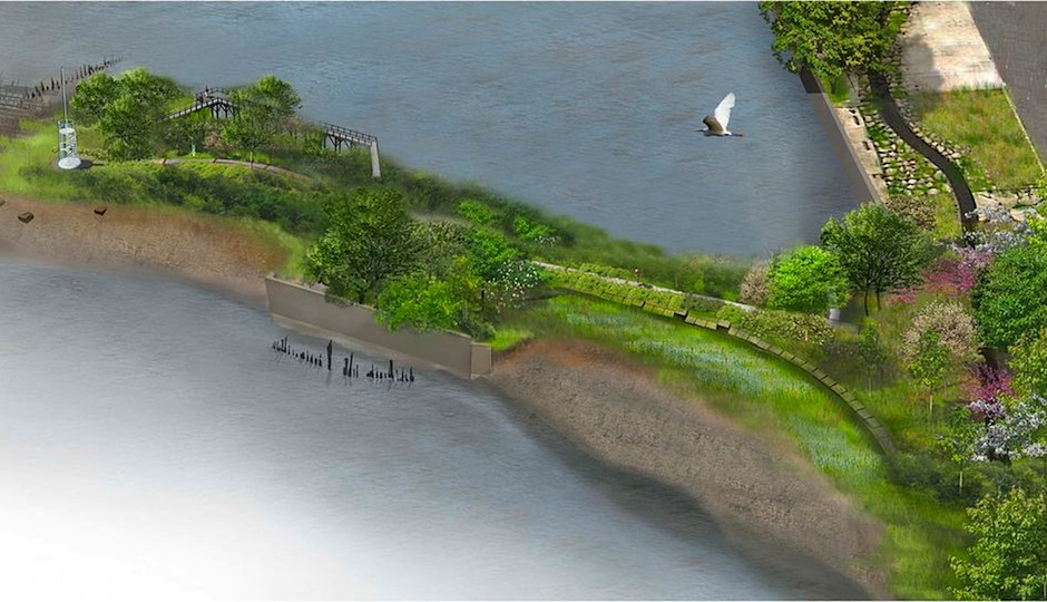 """Photo courtesy of the >a href=""""http://www.delawareriverwaterfront.com/planning/development-projects/pier-53"""">Delaware River Waterfront Corporation."""