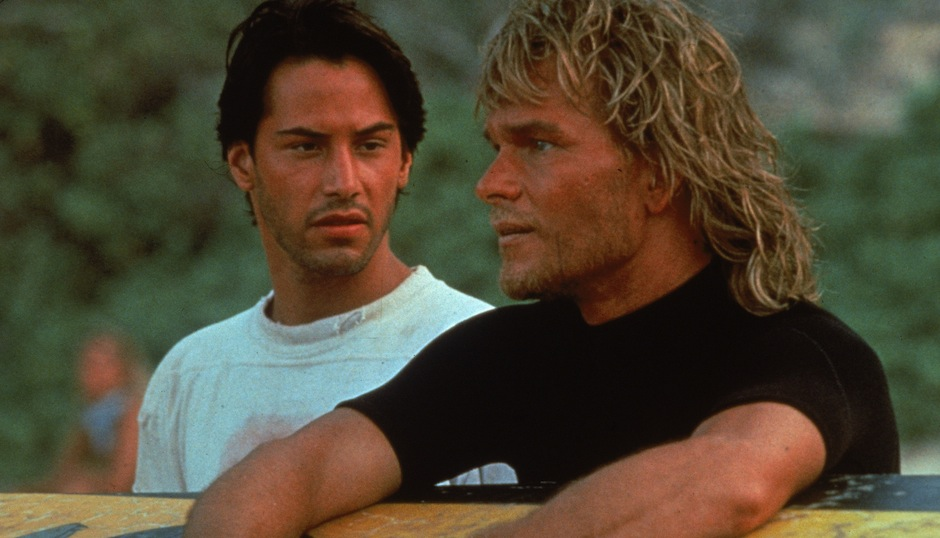 Keanu Reeves and Patrick Swayze, AKA Johnny Utah and Bodhi.