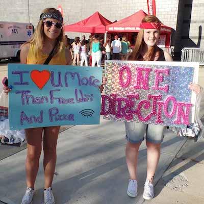 One Direction Concert Fans