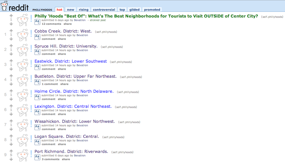 reddit r/phillyhoods screenshot