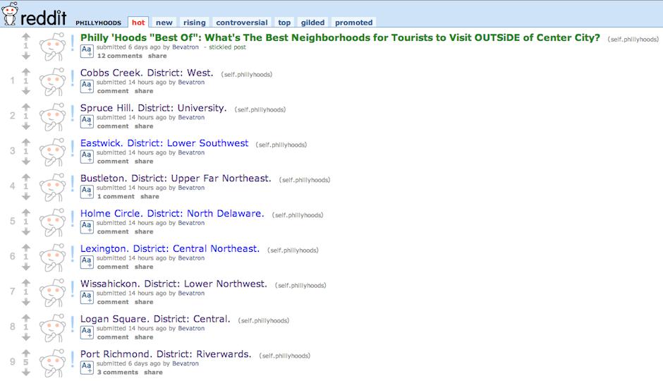 reddit r/phillyhoods screenshot