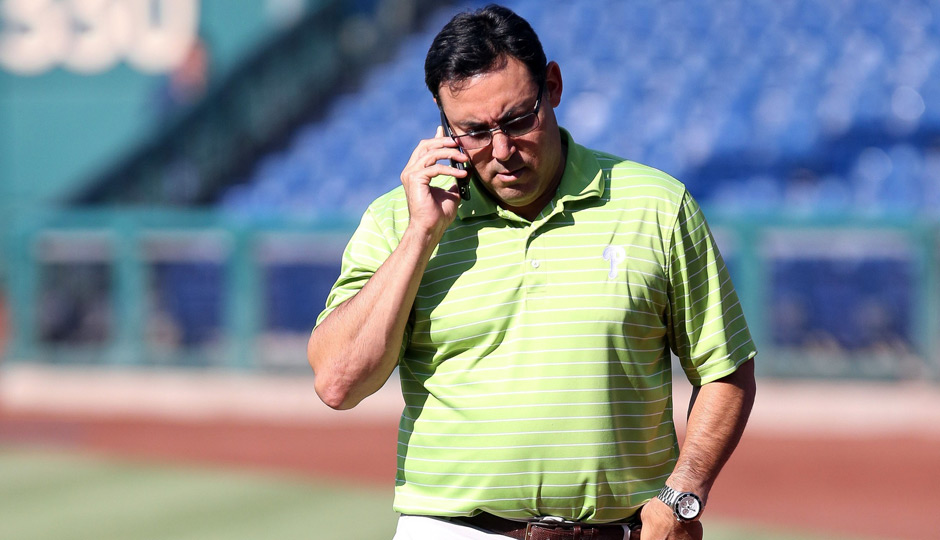 Philadelphia Phillies general manager Ruben Amaro Jr. not making a trade. Photo | Bill Streicher-USA TODAY Sports