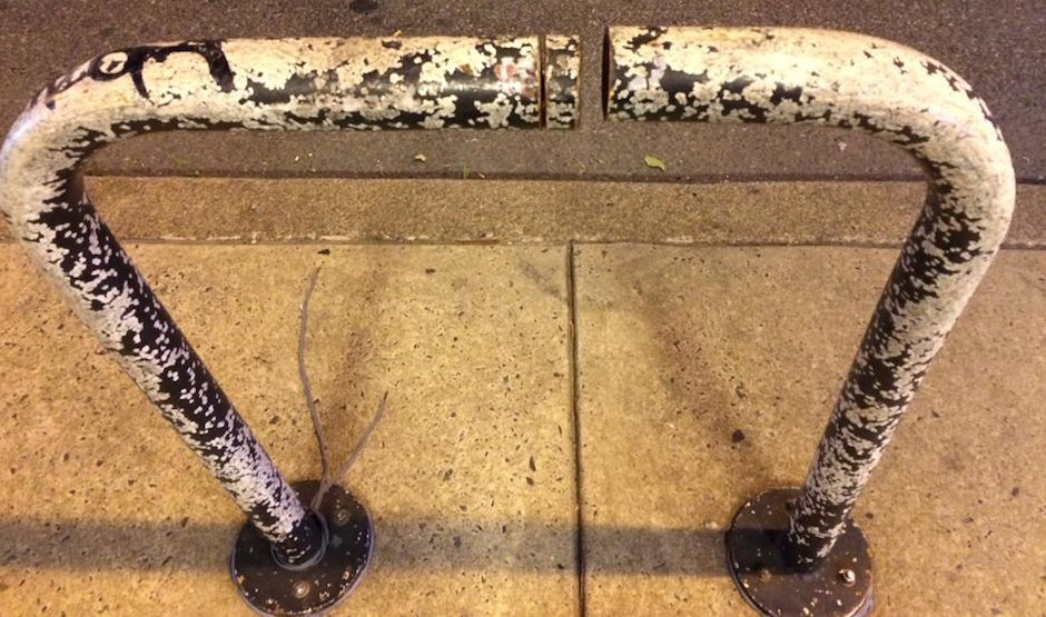 bike-theft-philadelphia-cut-bike-rack
