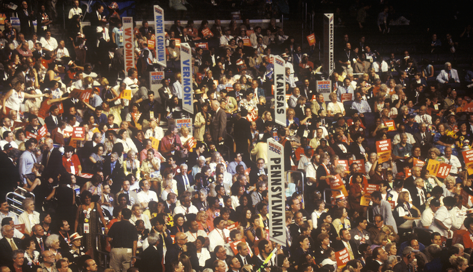 The Pennsylvania delegation was in the middle of action at the 20000 Democratci National Convention.