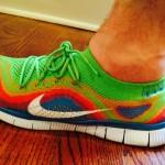 Yes, these sneakers look like Wildwood boardwalk sand art.