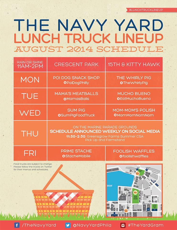 navy yard august lunch
