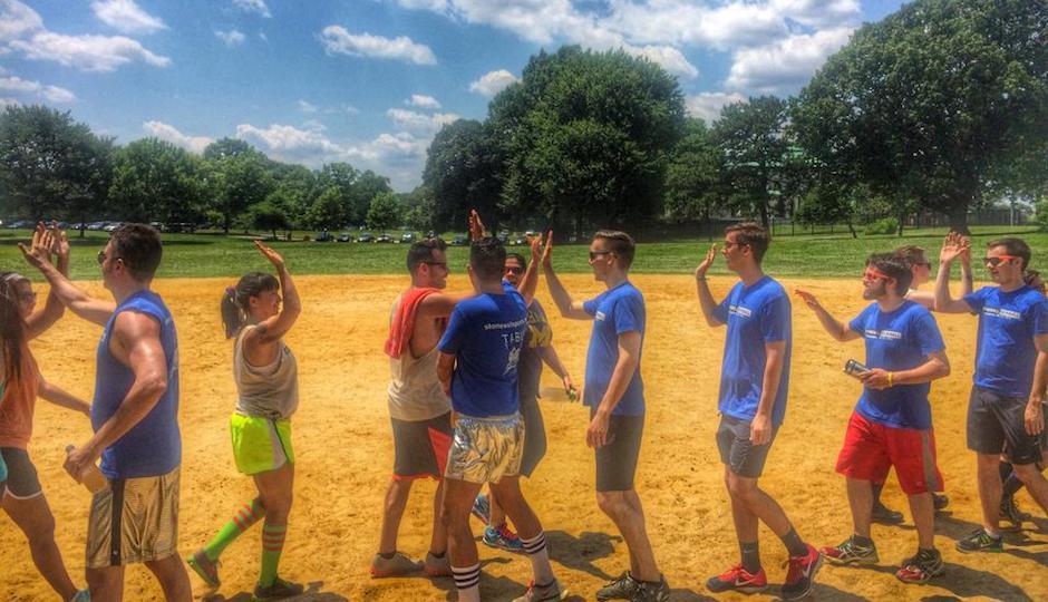 Stonewall Kickball = abounding high-fives