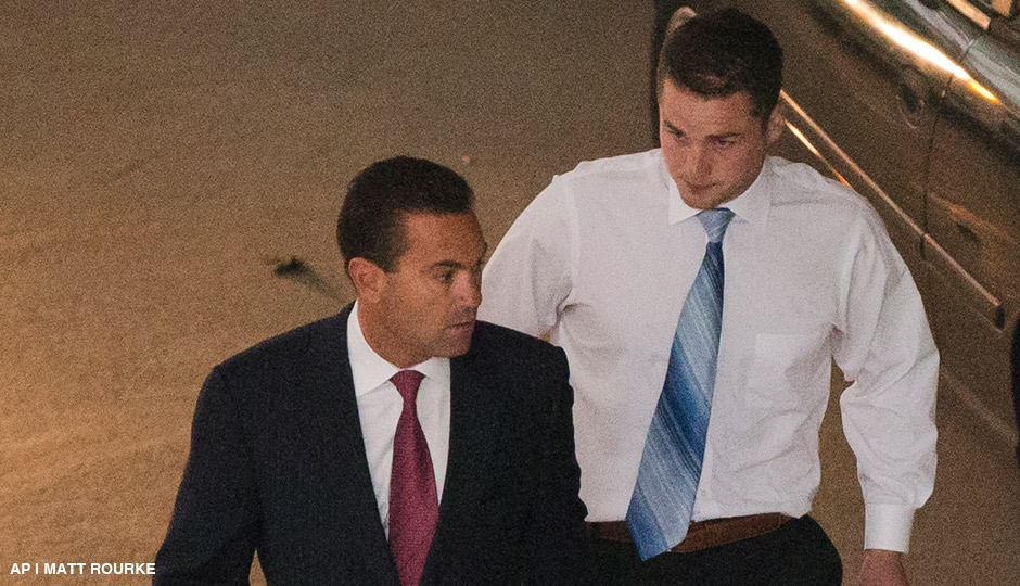 Philip Williams, right, accompanied by attorney Fortunato Perri Jr. walks to a police station Wednesday, Sept. 24, 2014, in Philadelphia. Williams, Kevin Harrigan and Kathryn Knott are being charged with conspiracy, aggravated and simple assault, and reckless endangerment in the Sept. 11 beating of a gay couple during a late-night encounter in Philadelphia.