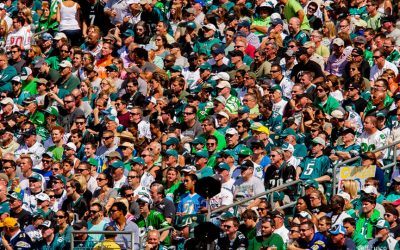 Eagles fans in stands