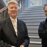 David Lynch with Bob Cozzolino, PAFA senior curator and curator of modern art