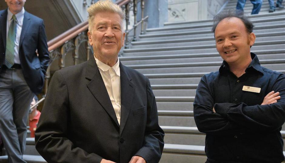 David Lynch with Bob Cozzolino, PAFA senior curator and curator of modern art