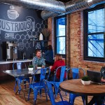 Industrious Chicago's co-working space break room. Photo credit: Horn Design.