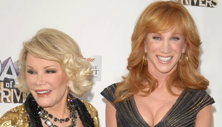 Joan Rivers and Kathy Griffin (via Shutterstock)