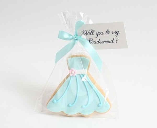 One of the many Will You Be My Bridesmaid? treats from Flour Pot Cookies.