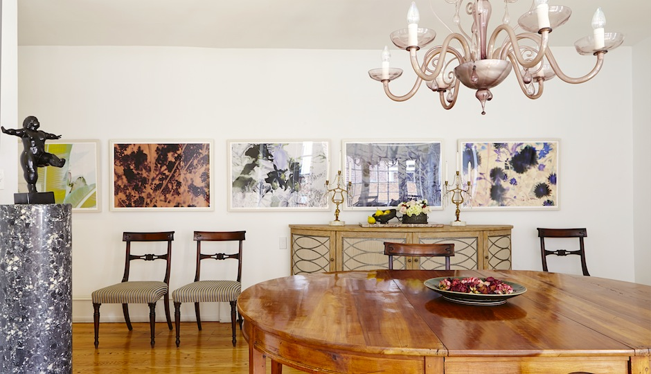 Dining room interior designed by Louis Navarette.  Photo courtesy of Andrew Joseph PR.